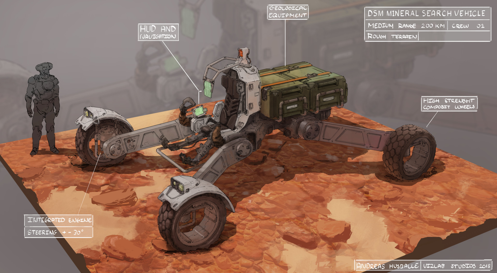 Concept art - DSM Mineral Search Vehicle