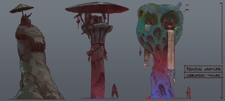 Concept art - FormatEarth - Proving Grounds Pillars