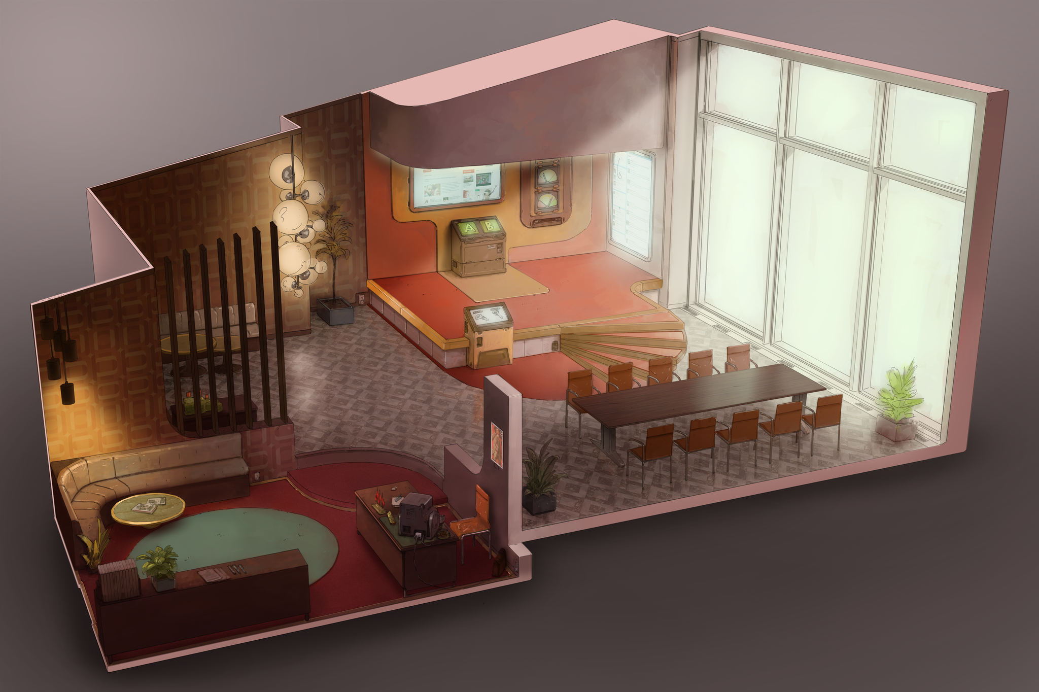 Concept art - Main Office - Real or fake news